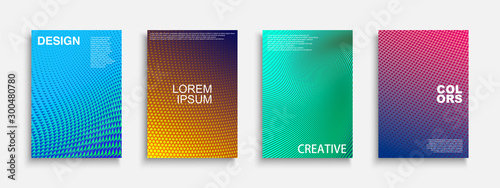 Collection of vector bright abstract contemporary templates, posters, placards, brochures, banners, flyers, backgrounds and etc Fototapeta
