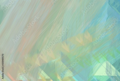 Fotografie, Tablou  abstract futuristic line design with ash gray, medium aqua marine and cadet blue color