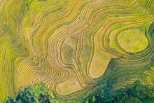 Longji Rice Terraces China Aerial View