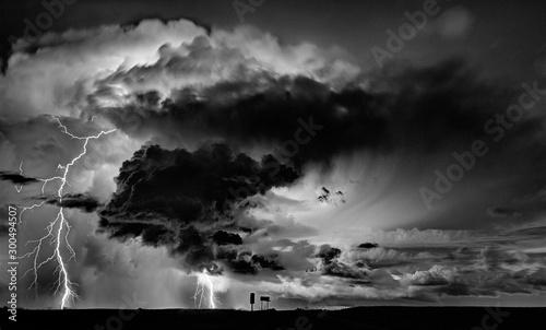 Foto auf Leinwand Dunkelgrau Prairie Storm Clouds Canada
