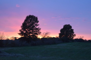 Fototapeta na wymiar Fall Sunset