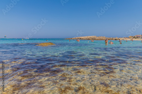 Fotografie, Obraz  A typical view at Cape Greco in Cyprus