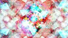 Abstract Rotating Star In Circ...