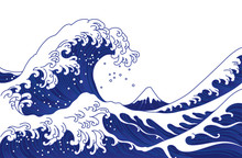 Japan Great Wave Vector Illust...