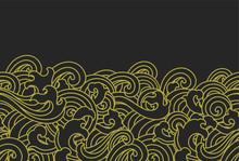 Oriental Ocean Wave Seamless Background.