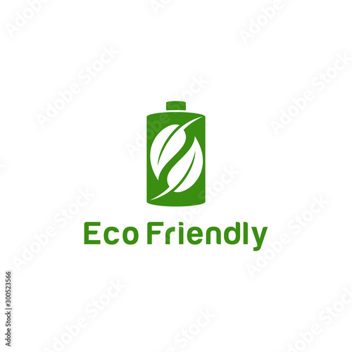 Photo Logo design concept related to ecology and recycle with text Eco Friendly