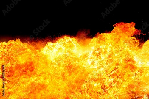 Fotografie, Tablou  Abstract blaze fire flame texture for banner