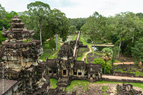 A beautiful shot from above from one of the most impressive temples in Siem Reap Canvas Print