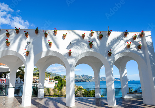 Square of Balcon de Europa in Nerja, Malaga, Spain