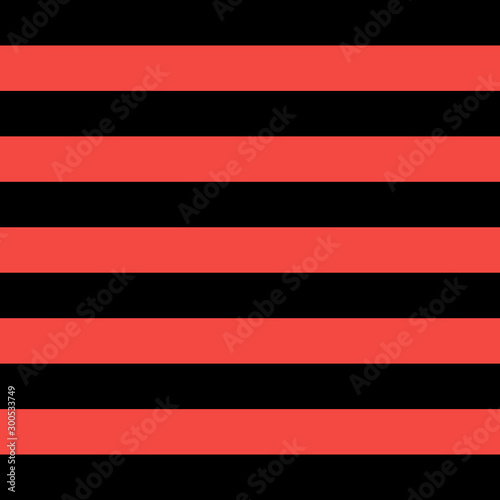 Pattern red and black horizontal strips Canvas