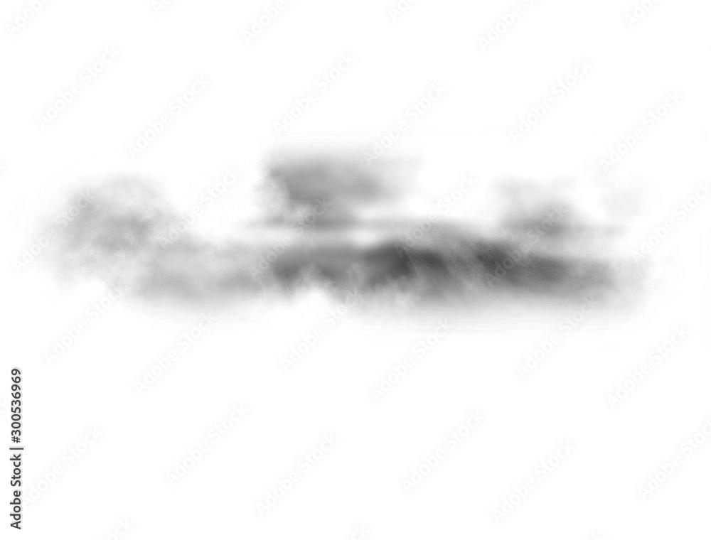 Fototapety, obrazy: Black fog texture. Black fog isolated on white