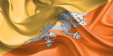 Bhutan Flag. Flag Of Bhutan. W...