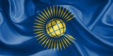 Commonwealth Flag. Flag Waving...