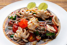 Thai Food, Spicy Mixed Seafood...