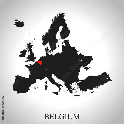 map of Belgium Wallpaper Mural