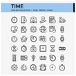 Time Icons Set. UI Pixel Perfect Well-crafted Vector Thin Line Icons. The illustrations are a vector.