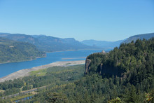 Scenic View At Columbia River ...