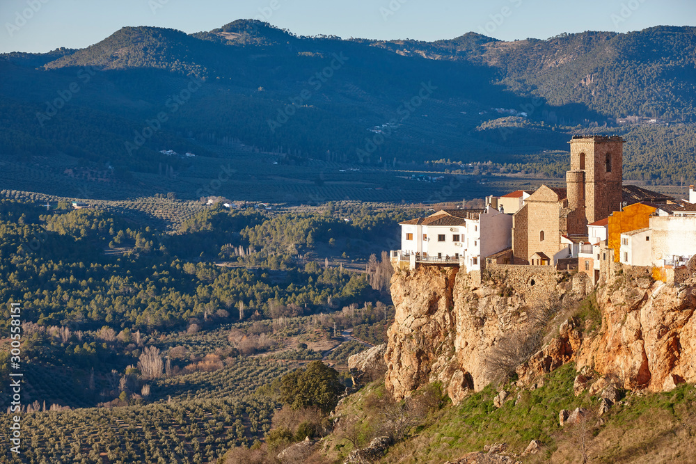 Fototapety, obrazy: Traditional white houses village and valley in Andalucia. Hornos. Jaen