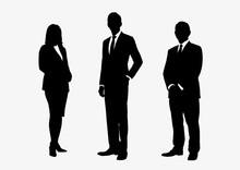 Business People Group Silhouet...