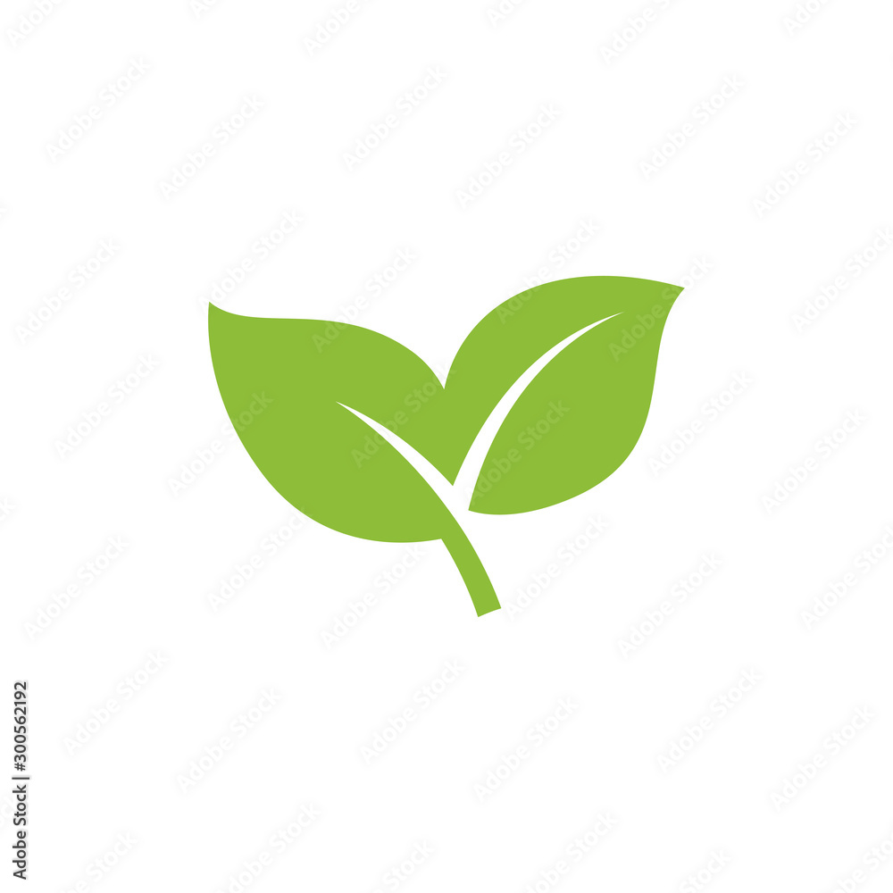 Fototapety, obrazy: nature green leaf element vector icon. green leaves vector symbol