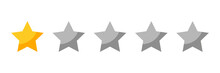 One Rating Stars Icon For Revi...
