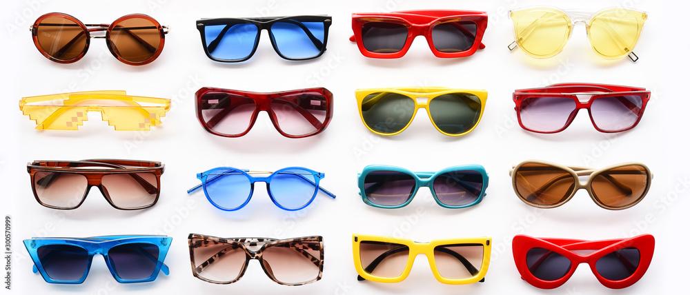 Fototapety, obrazy: Modern fashionable sunglasses isolated on white background