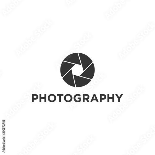 Fototapeta Creative Photography Concept Logo Design Template obraz na płótnie