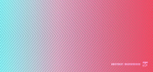 Abstract Blue And Pink Gradient Background With Diagonal Lines Pattern Texture.