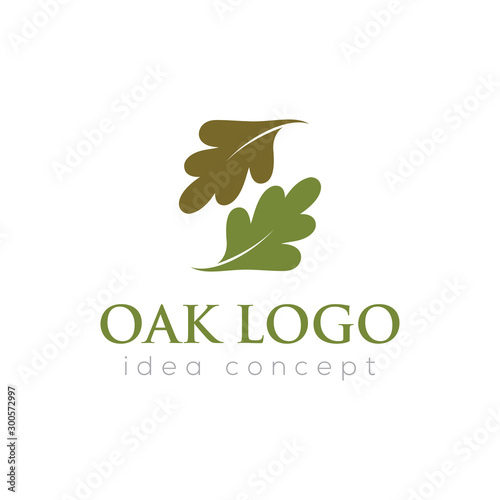 Fotomural  Oak Leaf Vector Logo Template