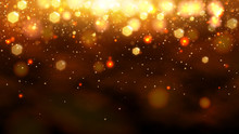 Gold Bokeh Abstract Background. Vector Stock Illustration