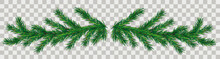 Grüner Tannenzweig Für Einen Adventskranz