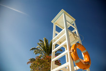 A White Lifeguard Tower