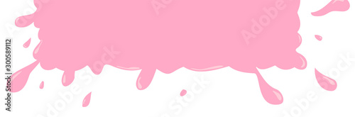 Splash bubble gum sticker for design. Cartoon template isolated on white background. Color tag / badge / icon / label . Vector sale illustration for store.