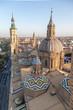 Vista aérea de la Basílica del Pilar en Zaragoza