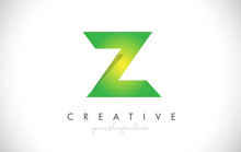 Z Letter Design Icon With Pape...