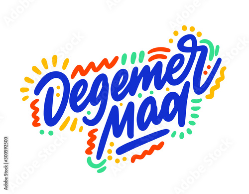 Photo Degemer mad hand drawn vector lettering