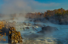 Great Falls Lies On The Right Bank Of The Potomac River, Virginia