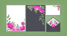 Floral Background Template Collection.