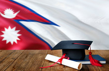 Nepal Education Concept. Gradu...