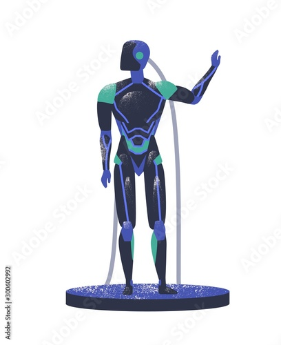 Photo Android robot flat vector illustration