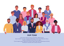 Our Team Background Concept. V...