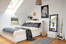 Interior Of Bedroom With Moder...