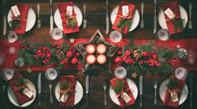 Christmas Holidays Table Setti...
