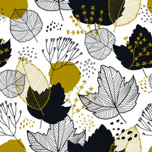 Vector Autumn Leaves Seamless ...