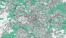 Detailed Map Of Manchester, UK