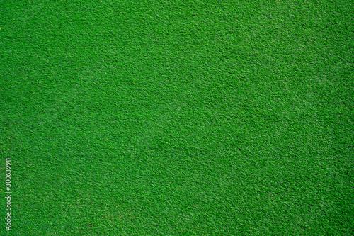 Montage in der Fensternische Grun background The field of green lawn looks above.