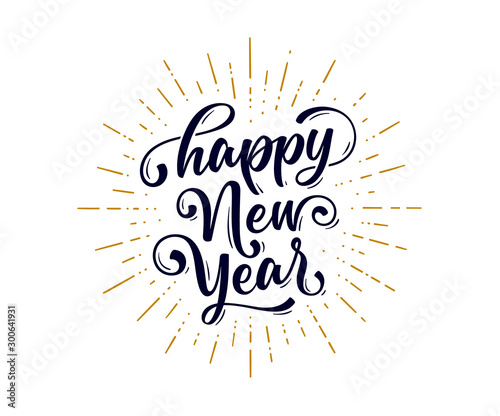 Fotografie, Tablou  Happy New Year. Lettering text for Happy New Year