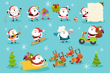 Collection Of Cute Santa Characters