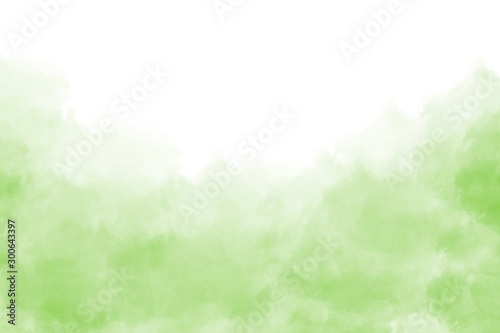 Carta da parati  Light green watercolor background hand-drawn with space for text