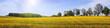 canvas print picture - Frühsommerliche Sonne über weiter Landschaft, Panorama